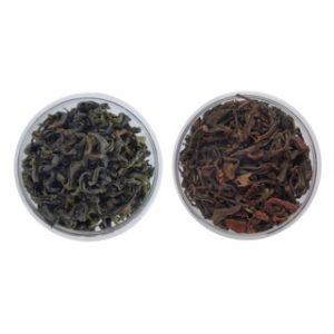 Tea Tasting Set Japanese Oolong and Wakocha Black Tea from Shizuoka